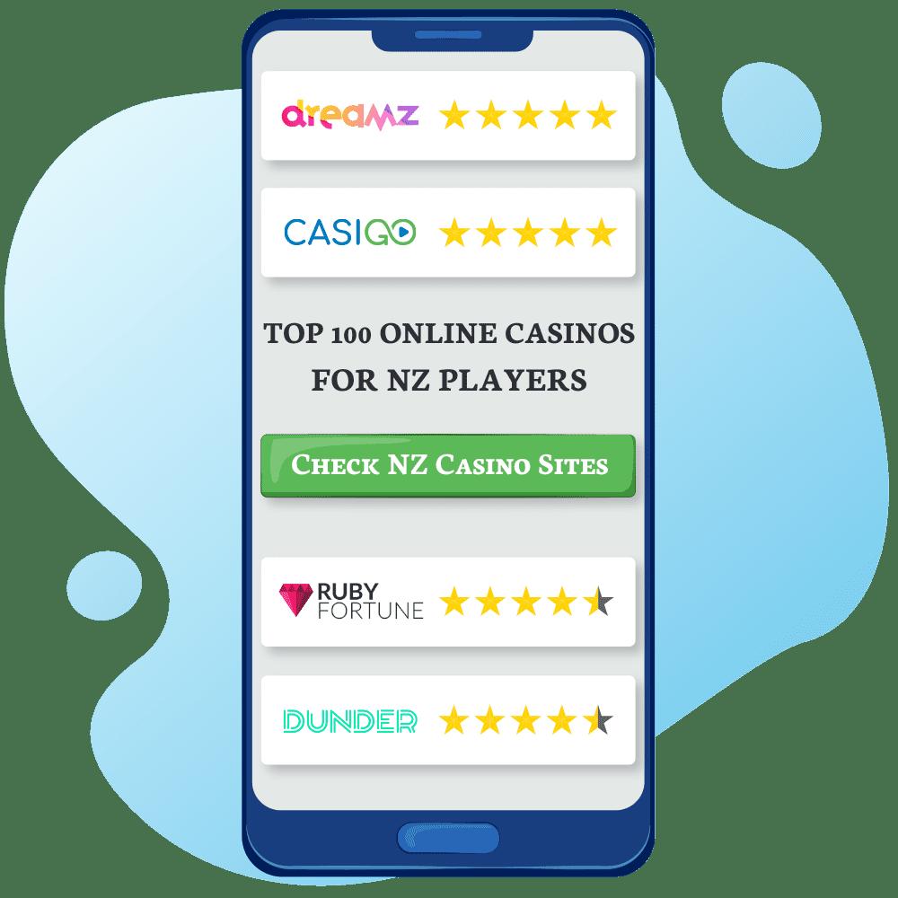 Top 100 Online Casinos NZ