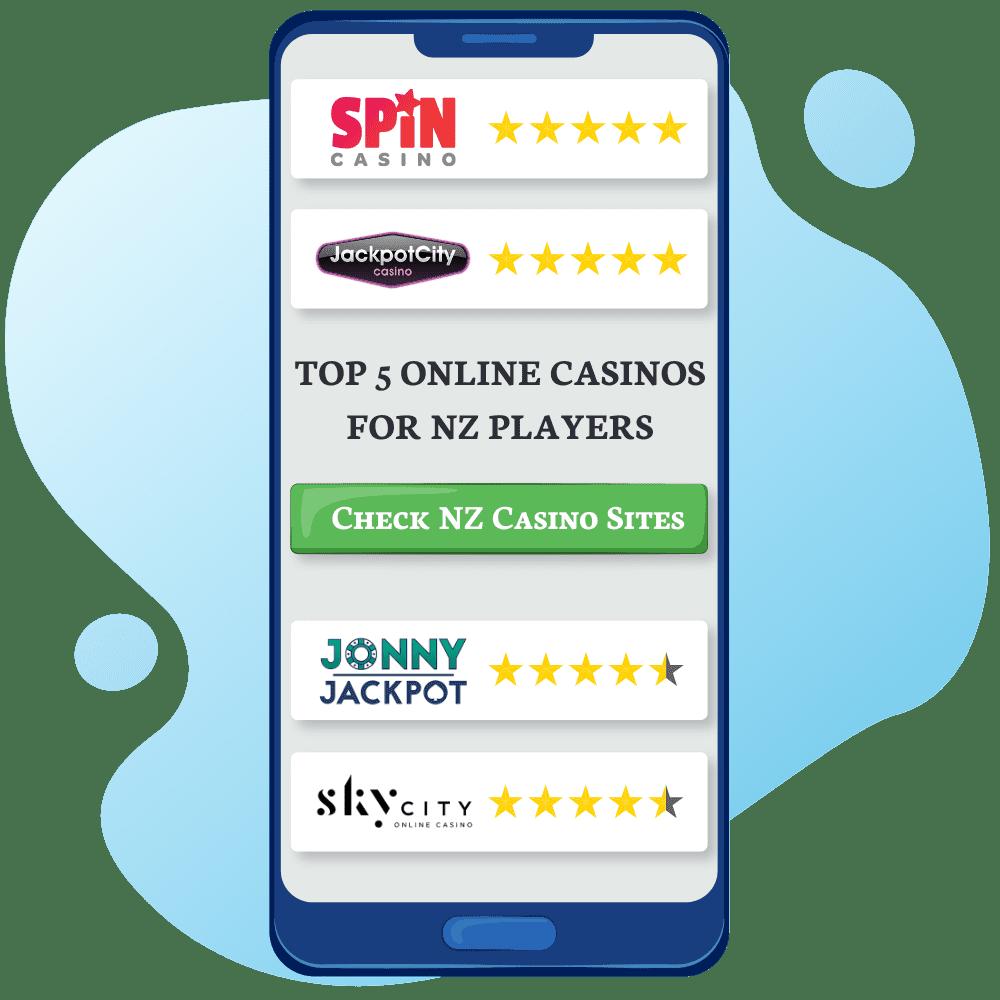 Top 5 Online Casinos NZ