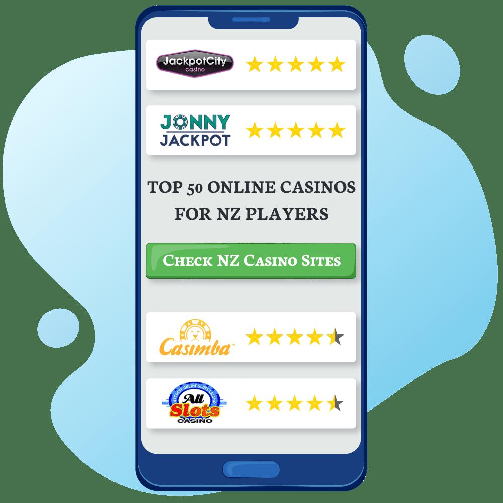Top 50 Online Casinos NZ